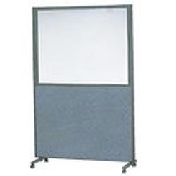 ローパーテーション(ガラスパネル) 単体型1800×900 ※代引不可