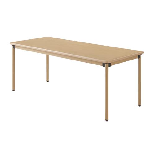 ユニバーサルテーブル 180×75cm メープル※代引不可