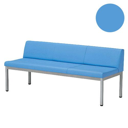 ロビーチェア LZS-1500(BL)背もたれあり ブルー【代引不可】
