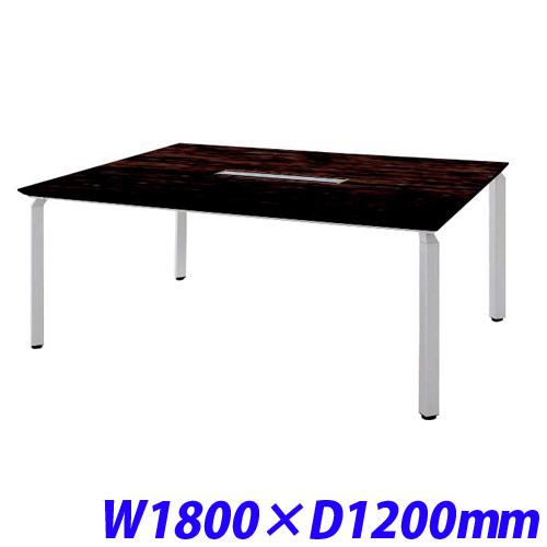 非売品 ミーティングテーブル W1800×D1200 配線ボックス付/ゼブラウッド WK18125H-SVZ【】, Factor-jpn b398b6dc
