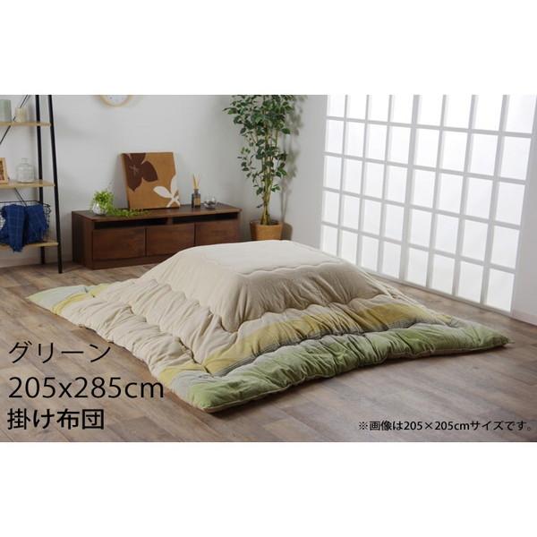 『ポイント5倍』 イケヒコ ロイド インド綿100% こたつ布団大 205×285cm グリーン RID205285 【代引不可】