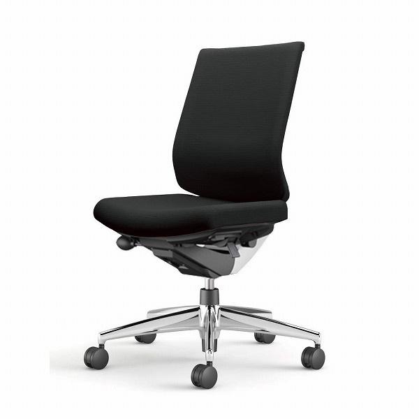 コクヨ(KOKUYO) オフィスチェア Wizard3(ウィザード3) ローバック ホワイトシェル アルミ脚 布張 肘なし ブラック CR-A3620E1G4B6-W 【代引不可】