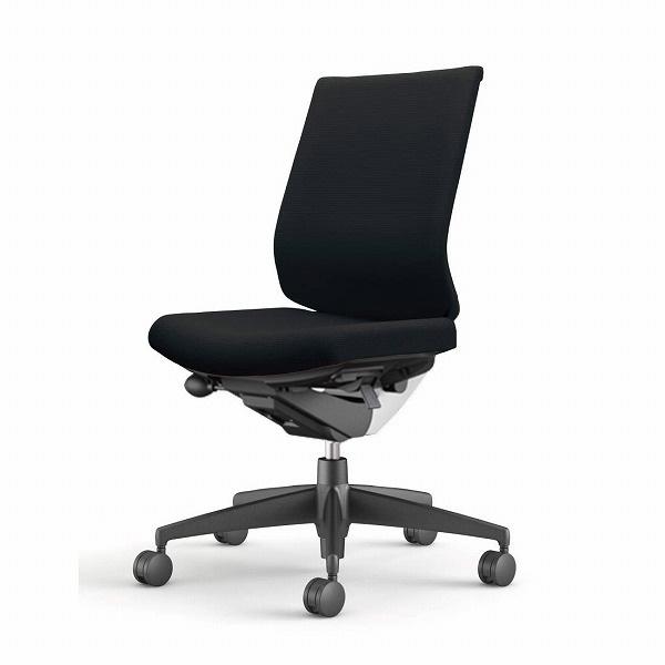 コクヨ(KOKUYO) オフィスチェア Wizard3(ウィザード3) ローバック ホワイトシェル 樹脂脚(ブラック) 布張 肘なし ブラック CR-G3620E1G4B6-W 【代引不可】