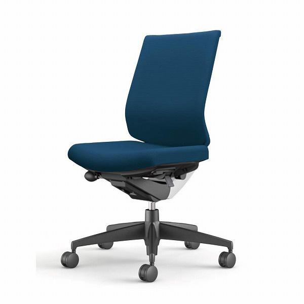 コクヨ(KOKUYO) オフィスチェア Wizard3(ウィザード3) ローバック ホワイトシェル 樹脂脚(ブラック) 布張 肘なし プルシアンブルー CR-G3620E1G4T6-W 【代引不可】