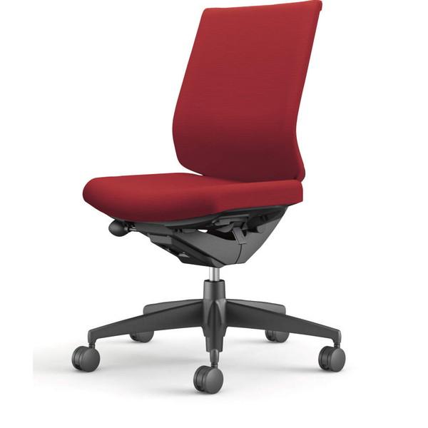 コクヨ(KOKUYO) オフィスチェア Wizard3(ウィザード3) ローバック ブラックシェル 樹脂脚(ブラック) 布張 肘なし カーマイン CR-G3620F6G4A8-W 【代引不可】