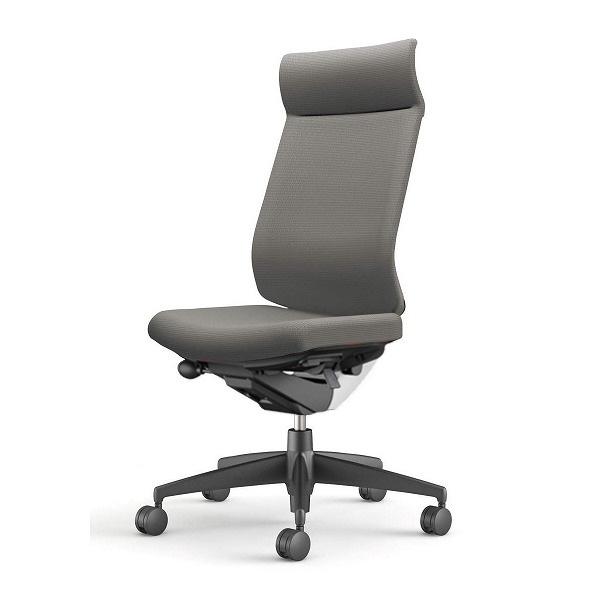 【受注生産品】コクヨ(KOKUYO) オフィスチェア Wizard3(ウィザード3) ミドルマネージメント ホワイトシェル 樹脂脚(ブラック) 布張 肘なし ソフトグレー CR-G3624E1G4E3-W 【代引不可】