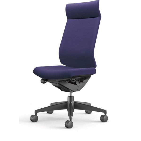 【受注生産品】コクヨ(KOKUYO) オフィスチェア Wizard3(ウィザード3) ミドルマネージメント ブラックシェル 樹脂脚(ブラック) 布張 肘なし ディープパープル CR-G3624F6G47E-W 【代引不可】