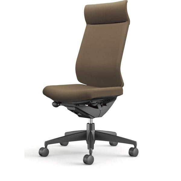 『ポイント5倍』 【受注生産品】コクヨ(KOKUYO) オフィスチェア Wizard3(ウィザード3) ミドルマネージメント ブラックシェル 樹脂脚(ブラック) 布張 肘なし ダークグレージュ CR-G3624F6G4M6-W 【代引不可】
