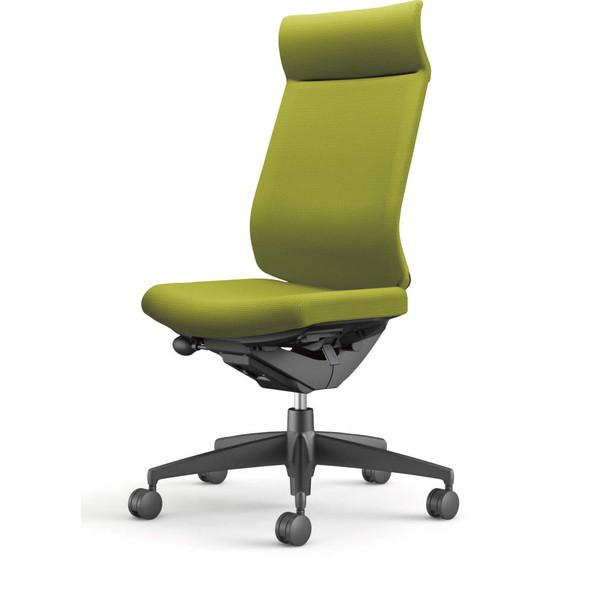 【受注生産品】コクヨ(KOKUYO) オフィスチェア Wizard3(ウィザード3) ミドルマネージメント ブラックシェル 樹脂脚(ブラック) 布張 肘なし ライトオリーブ CR-G3624F6G4Q4-W 【代引不可】