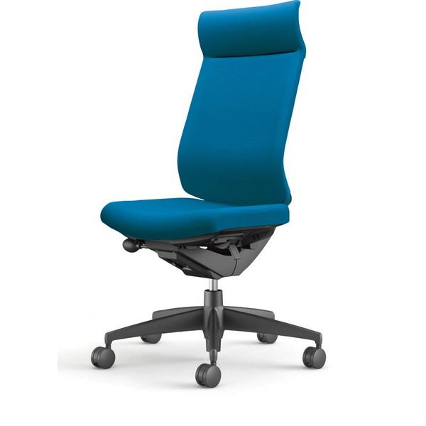 【受注生産品】コクヨ(KOKUYO) オフィスチェア Wizard3(ウィザード3) ミドルマネージメント ブラックシェル 樹脂脚(ブラック) 布張 肘なし ターコイズ CR-G3624F6G4T4-W 【代引不可】
