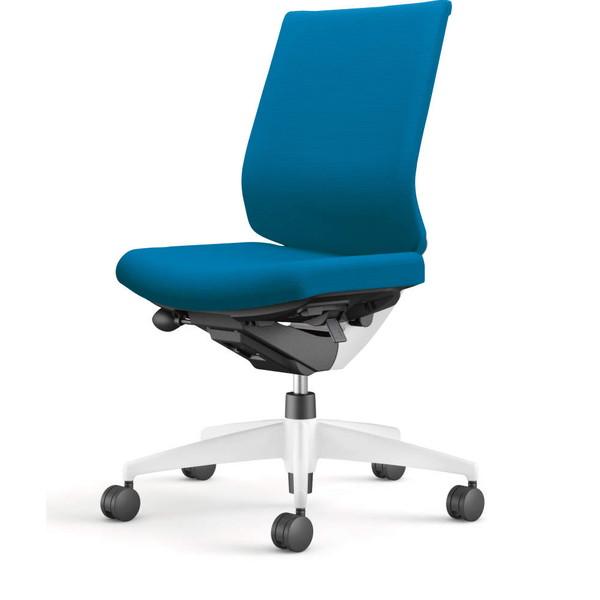 コクヨ(KOKUYO) オフィスチェア Wizard3(ウィザード3) ローバック ホワイトシェル 樹脂脚(ホワイト) 布張 肘なし ターコイズ CR-W3620E1G4T4-W 【代引不可】