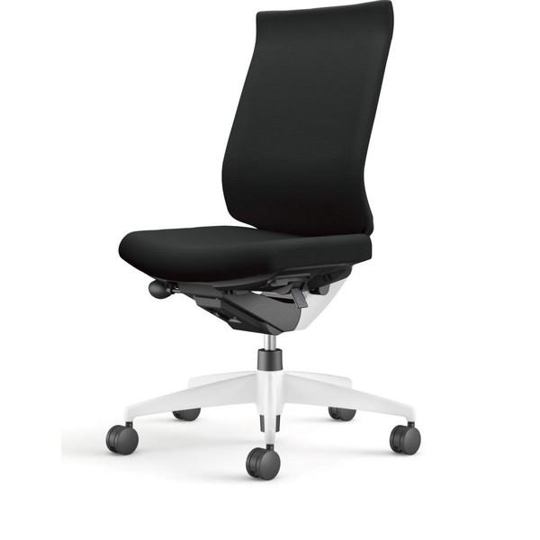 【受注生産品】コクヨ(KOKUYO) オフィスチェア Wizard3(ウィザード3) ハイバック ホワイトシェル 樹脂脚(ホワイト) 布張 肘なし ブラック CR-W3622E1G4B6-W 【代引不可】