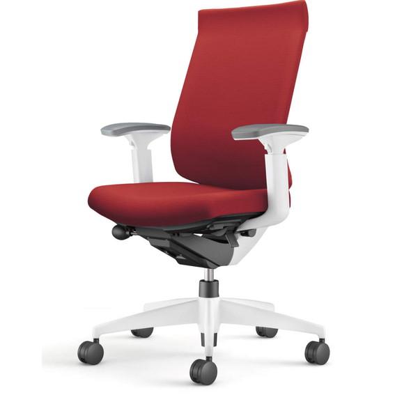 『ポイント5倍』 【受注生産品】コクヨ(KOKUYO) オフィスチェア Wizard3(ウィザード3) ハイバック ホワイトシェル 樹脂脚(ホワイト) 布張 可動肘 カーマイン CR-W3633E1G4A8-W 【代引不可】