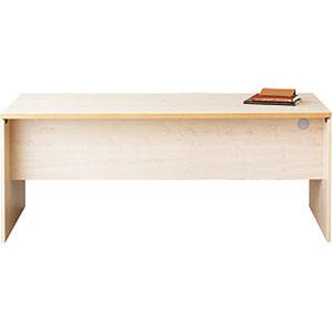 Garage パソコンデスク fantoni テーブル 幅180cm 奥行き80cm GL-188D 白木 【代引不可】