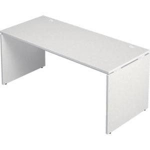 Garage 木製パソコンデスク AFデスク 幅160cm 奥行き70cm AF-167H 白 ホワイト 【代引不可】