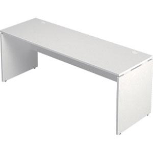 Garage 木製パソコンデスク AFデスク 幅180cm 奥行き60cm AF-186H 白 ホワイト 【代引不可】