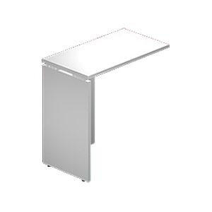Garage 木製パソコンデスク L字用 AFサイドデスク AF-074L 白 ホワイト 【代引不可】