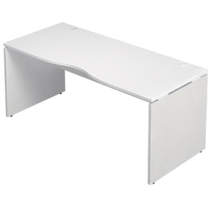 Garage 木製パソコンデスク AFデスク 幅160cm 奥行き70cm AF-167MH 白 ホワイト 【代引不可】