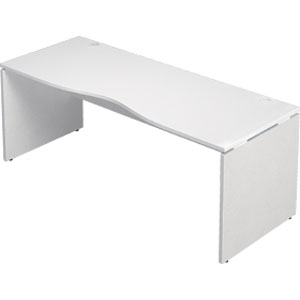 Garage 木製パソコンデスク AFデスク 幅180cm 奥行き70cm AF-187MH 白 ホワイト 【代引不可】