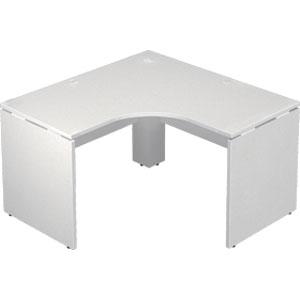Garage 木製パソコンデスク AFデスク L型 幅120cm 奥行き120cm AF-1212LH 白 【代引不可】