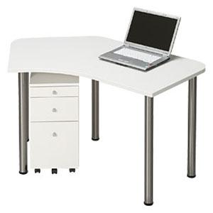 Garage パソコンデスク L型デスク D2 D2-B-ST 白 ホワイト 【代引不可】