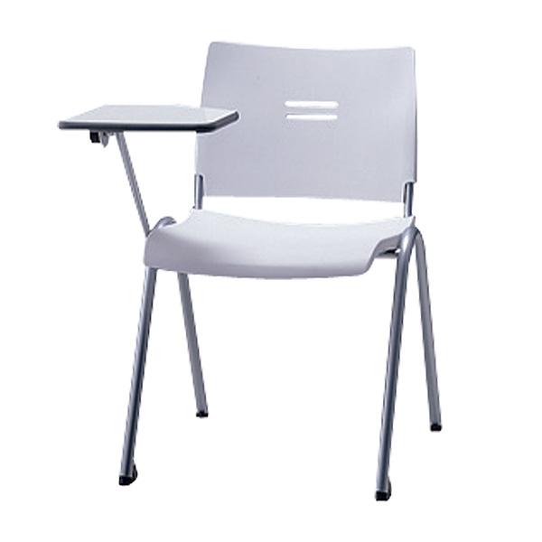 サンケイ ミーティングチェア 会議椅子 4本脚 粉体塗装 肘なし メモ板付 パッドなし CM700-MSM 【代引不可】