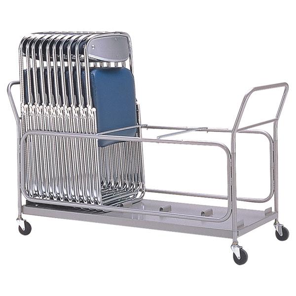 サンケイ 収納台車 チェアポーター 粉体塗装 折りたたみ椅子用 E-8 【代引不可】