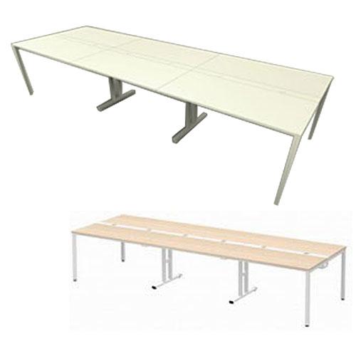 オフィス家具からオシャレ家具・家具まで!家具の事なら『alude』へ♪多人数用の多目的テーブル Garage フリーアドレスデスク 多人数用デスク MP-3612SS 幅360cm 【代引不可】