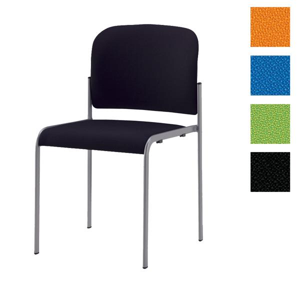 【受注生産品】サンケイ ミーティングチェア 会議椅子 4本脚 粉体塗装 肘なし ペット再生布張り CM104-MY 【代引不可】