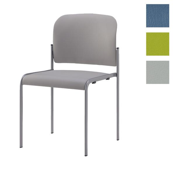 【受注生産品】サンケイ ミーティングチェア 会議椅子 4本脚 粉体塗装 肘なし ビニールレザー張り CM104-MX 【代引不可】