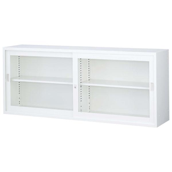 生興 ニュースタンダード書庫 A4対応書庫 ANWシリーズ(ホワイト) 上置き用 ガラス引戸書庫 W1760×D400×H730 ANW-62G『代引不可』