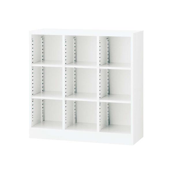 生興 3列オープン書庫(D350・ホワイト) W900×D350×H900 SBKW-9【代引不可】