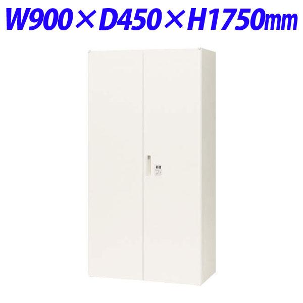ライオン事務器 オフィスユニット XWシリーズ ダイヤル両開型 下置専用 W900×D450×H1750mm ホワイト XW-18HDK 301-31【代引不可】