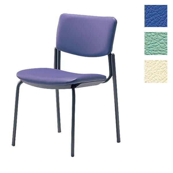サンケイ ミーティングチェア 会議椅子 4本脚 粉体塗装 肘なし ビニールレザー張り CM350-MX【代引不可】