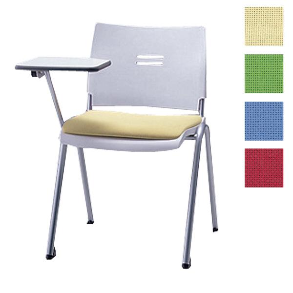 サンケイ ミーティングチェア 会議椅子 4本脚 粉体塗装 肘なし メモ板付 布張り CM710-MYM【代引不可】