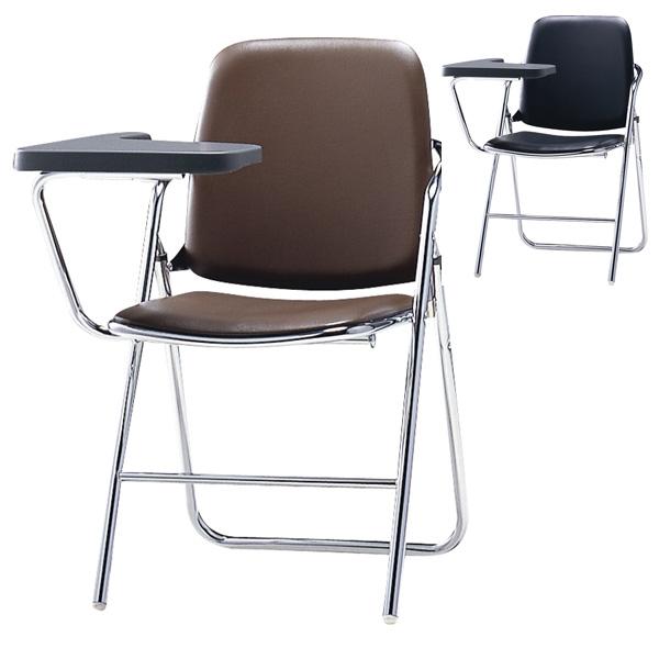 サンケイ 折りたたみ椅子 パイプイス スチール脚 クロームメッキ ハイバック メモ板付 ビニールレザー張り SCF12-CXM【代引不可】