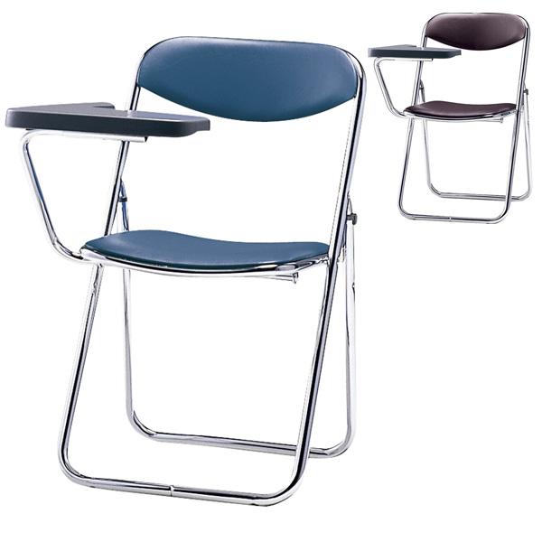 サンケイ 折りたたみ椅子 パイプイス スチール脚 クロームメッキ メモ板付 ビニールレザー張り SCF02-CXM【代引不可】