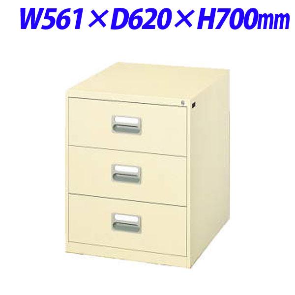 ライオン事務器 カードキャビネット W561×D620×H700mm アイボリー A5-2376N 452-23【代引不可】
