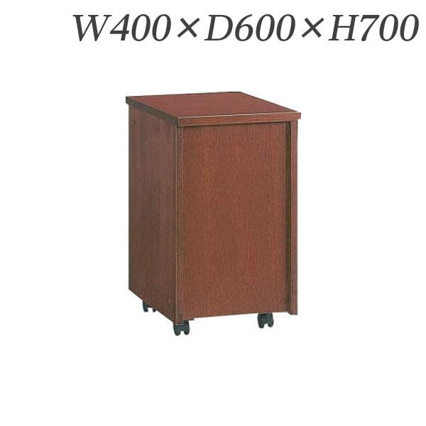 【受注生産品】ライオン事務器 会議用テーブル GPNタイプ キャスター仕様 W400×D600×H700mm ブラウン GPN-400W 535-12【代引不可】