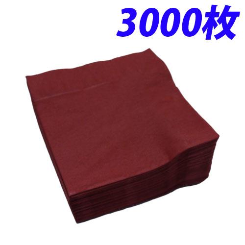 2プライ ナフキン 25cm 四ツ折り パーシモン 3000枚【代引不可】