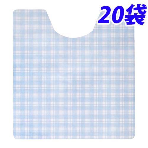 トイレ用消臭フロアシート ブルー 20枚×20袋使い捨て 介護施設 介護 業務用 トイレ フロアシート