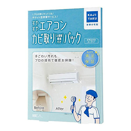 カジタク すやすやエアコンカビ取りパック (自動お掃除機能付エアコン用) 1台