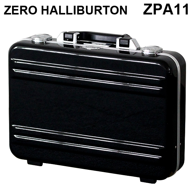 ゼロハリバートン ZERO HALLIBURTON クラシック ポリカーボネート アタッシュケース フレームタイプ スモール ブラック B4対応 80634 ZPA11-BK『送料無料(一部地域除く)』