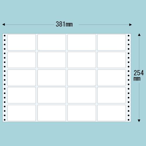 ラベルシール 東洋印刷 TH15E タックシール (連続ラベル) 薄型タイプ 500折