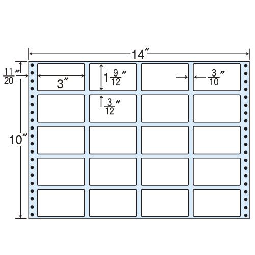 ラベルシール 東洋印刷 RT14W タックシール (連続ラベル) 再剥離タイプ 500折【代引不可】