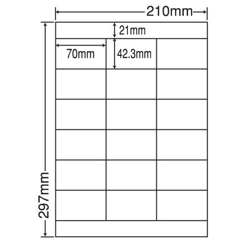 ラベルシール 東洋印刷 LDZ18PFH 医療機関向け再剥離ラベル A4 100シート×5箱【代引不可】