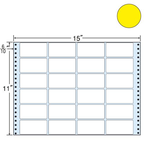 ラベルシール 東洋印刷 MT15TY タックシール (連続ラベル) カラータイプイエロー 500折【代引不可】