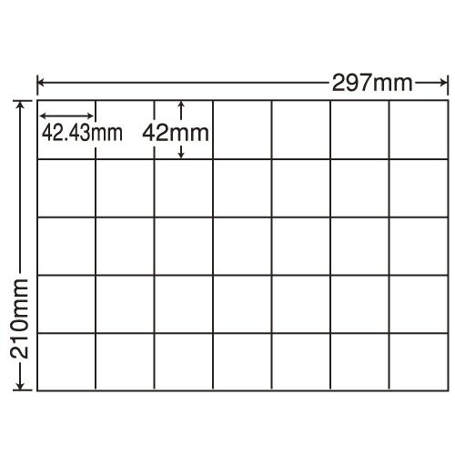 ラベルシール 東洋印刷 C35QF 再剥離タイプ A4 100シート×5箱【代引不可】