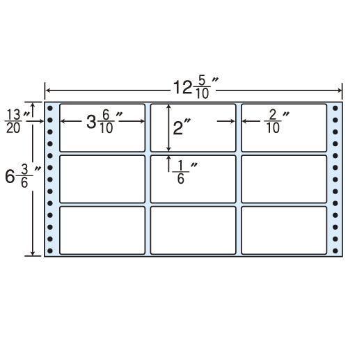 ラベルシール MT12G タックシール (連続ラベル) レギュラータイプ 500折×2【代引不可】
