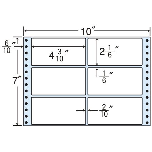 ラベルシール MT10D タックシール (連続ラベル) レギュラータイプ 500折×2【代引不可】